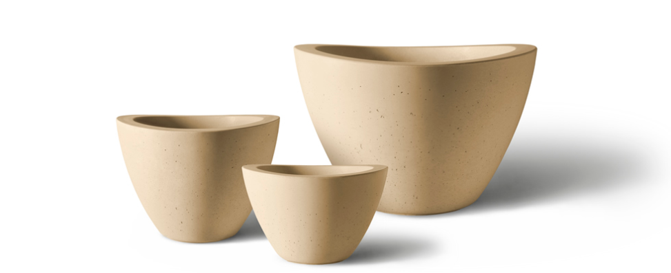 Kornegay Design Dune Collection Planters by Old Town Fiberglass